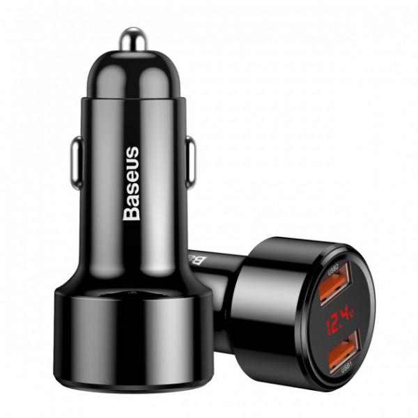 Baseus Magic Series Dual-USB QC 3.0 45W Black (CCMLC20A-01)