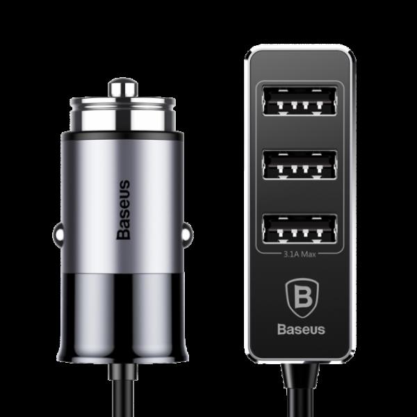 Baseus Output Patulous 5.5A Dark gray 4-в-1 (CCTON-0G)