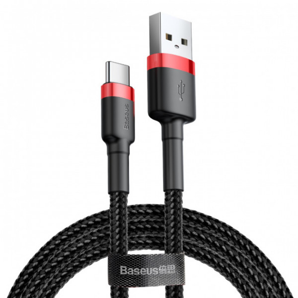 Baseus USB for Type-C 3A 2M Red/Black (CATKLF-C91)