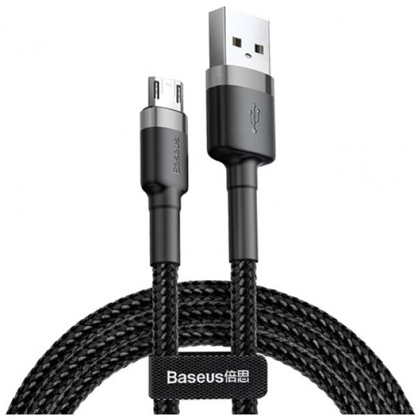 Baseus Cafule Cable USB for Micro 1.5A 2.0 м Grey/Black (CAMKLF-CG1)