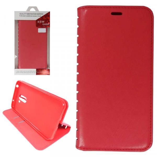 Чехол Книжка Asus ZC520KL (ZenFone 4 Max) красный (New Case)