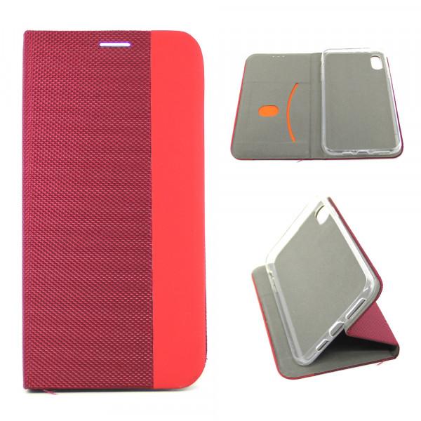 Чехол Книжка iPhone ХR красный (Stylish Case)