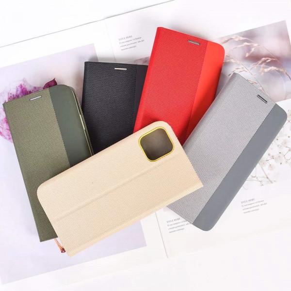 Чехол Книжка Samsung J260/J2 Core красный (Stylish Case)