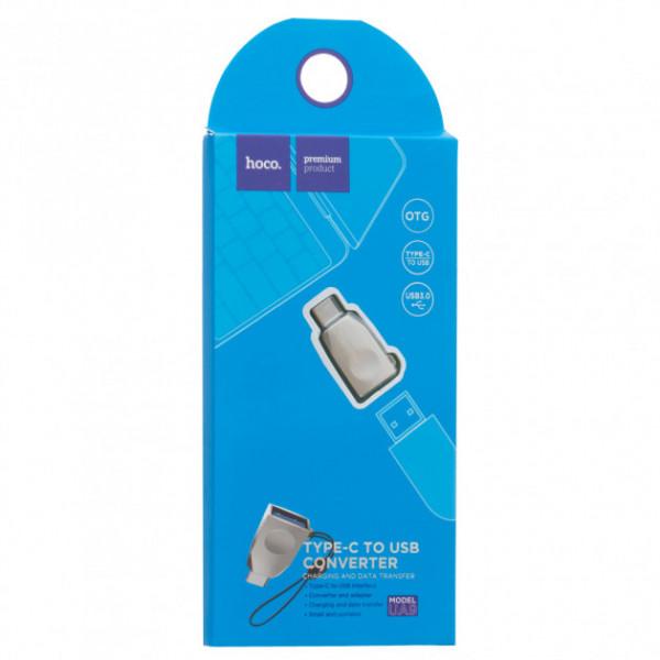 Переходник OTG Hoco (UA9) USB Type-C-USB Gold
