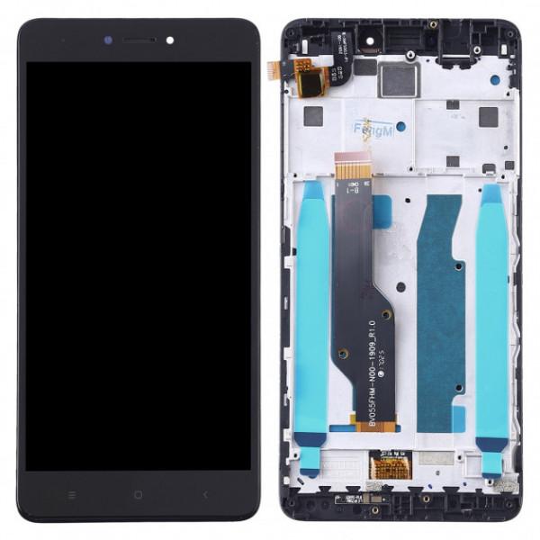 Дисплей Xiaomi Redmi Note 4X/Note 4 Global Version в сборе с тачскрином в рамке Черный