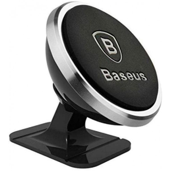 Baseus Car and Desk Holder Magnetic 360 Rotation Silver (SUGENT-NT0S)