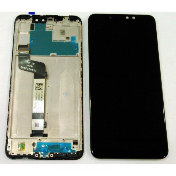 Дисплей Xiaomi Redmi Note 6 Pro в сборе с тачскрином Черный в рамке