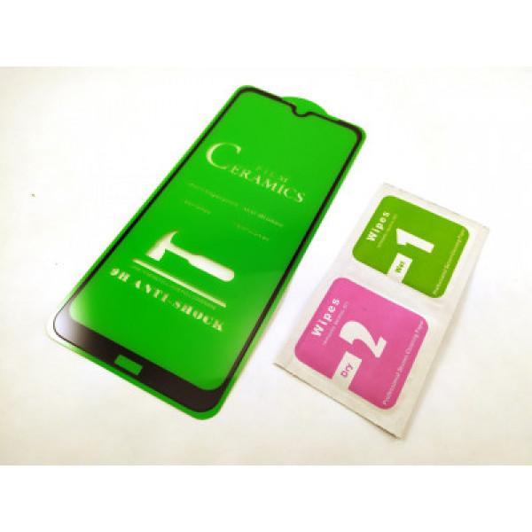 Защитное керамическое стекло чёрное Iphone 6P/7P/8P
