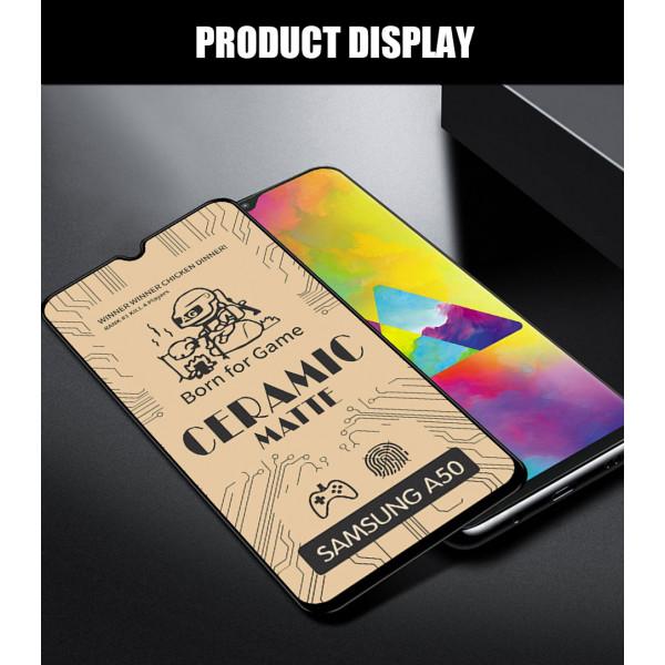 Защитное керамическое стекло Samsung A20/A30/A40S/A50/A50S/M21/M30/M30S/M31/Huawei Y6 P (Matte)