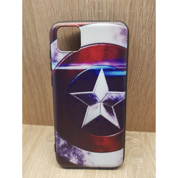 Чехол силиконовый Samsung A01/M01 (Captain America)