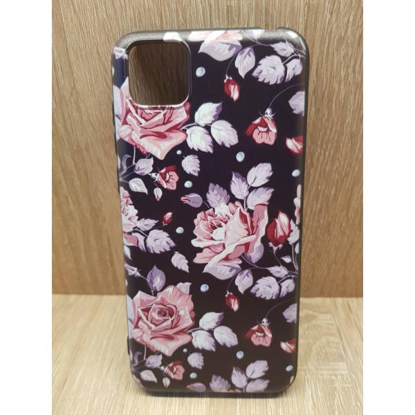 Чехол силиконовый Samsung A71 (Цветы №2)