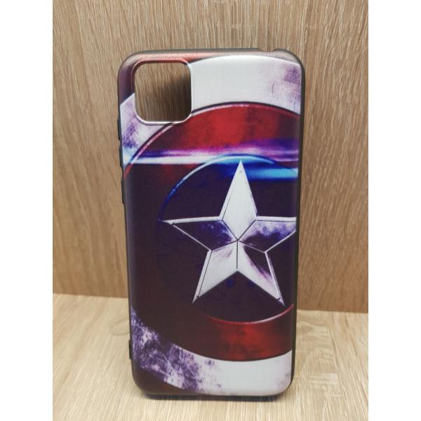 Чехол силиконовый Xiaomi Redmi 8 (Captain America)