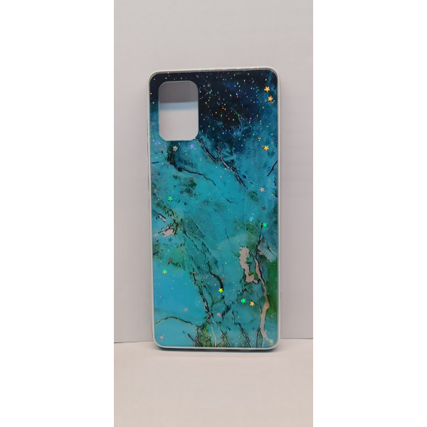 Чехол силиконовый Samsung A71 (мрамор №2)