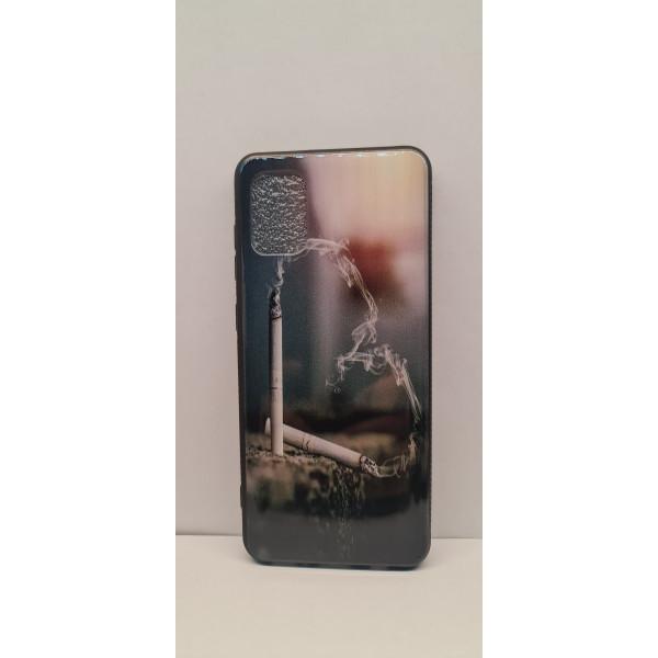 Чехол силиконовый Samsung A71 с сигаретой