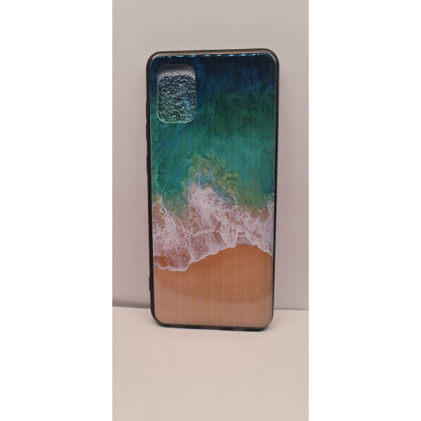 Чехол силиконовый Samsung A71 волны