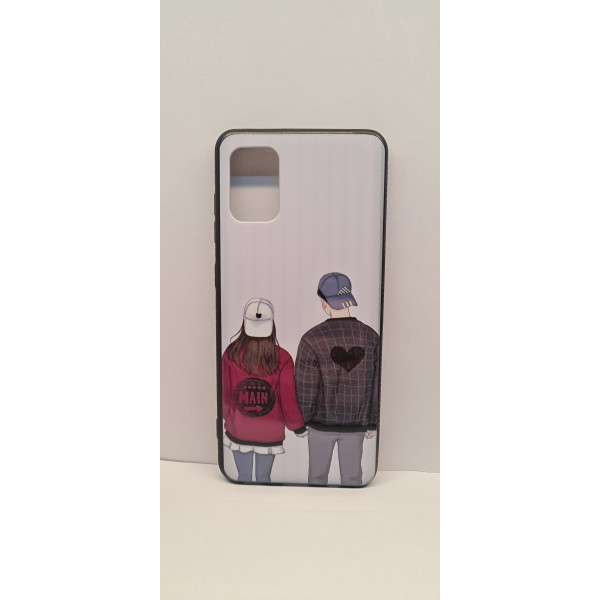 Чехол силиконовый Samsung A51/M40S мальчик с девочкой