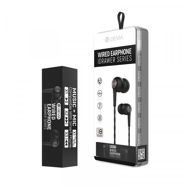 Idrawer series wired earphone