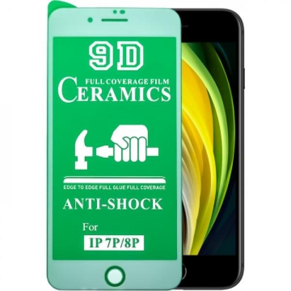 Защитное керамическое стекло белое Iphone 7P/8P (Matte)
