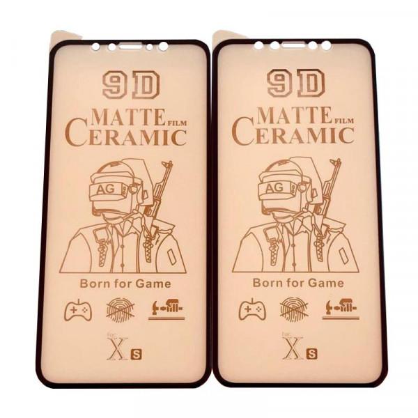 Защитное керамическое стекло чёрное Iphone XR/11 (Matte)