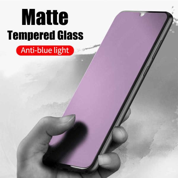 Защитное керамическое стекло Samsung A20/A30/A40S/A50/A50S/M21/M30/M30S/M31/Huawei Y6P (Matte Anti-Blue)