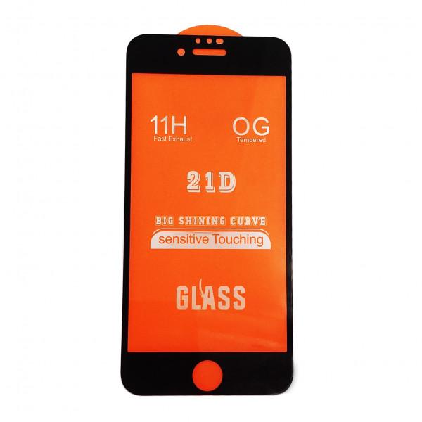 """Защитное стекло 21D """"Полное покрытие"""" Iphone 7/8 Black"""