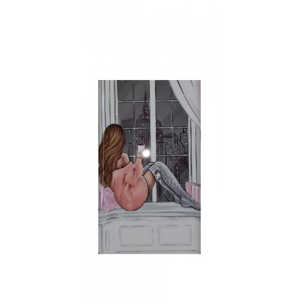 Чехол силиконовый Samsung A01 Core/A013 (Девушка у окна)