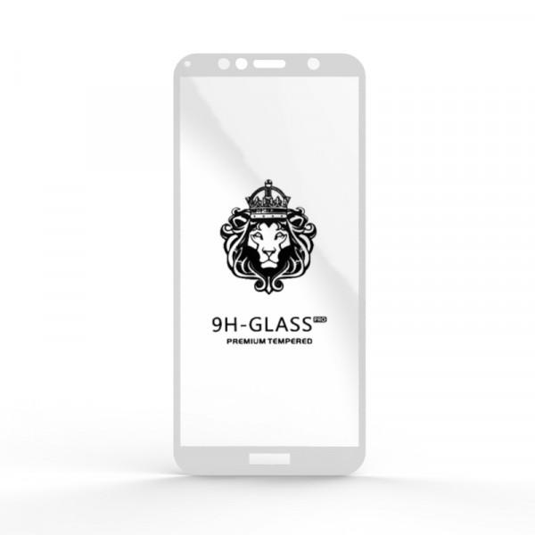 Защитное стекло 9H Huawei Y6 2018/Honor 7A Pro/7C Белое