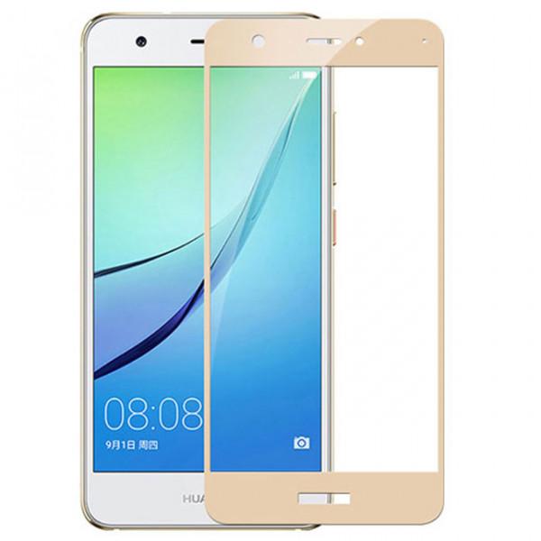Защитное стекло 9H Huawei Nova 2i/Mate 10 Lite Золотое