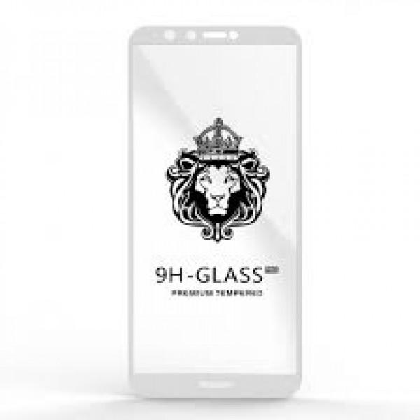 Защитное стекло 9H Huawei Y9 2018/enjoy 8 plus  белое