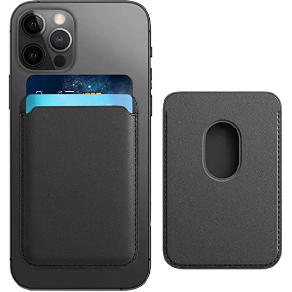 Leather Wallet Case Black IPhone 12 (визитница)