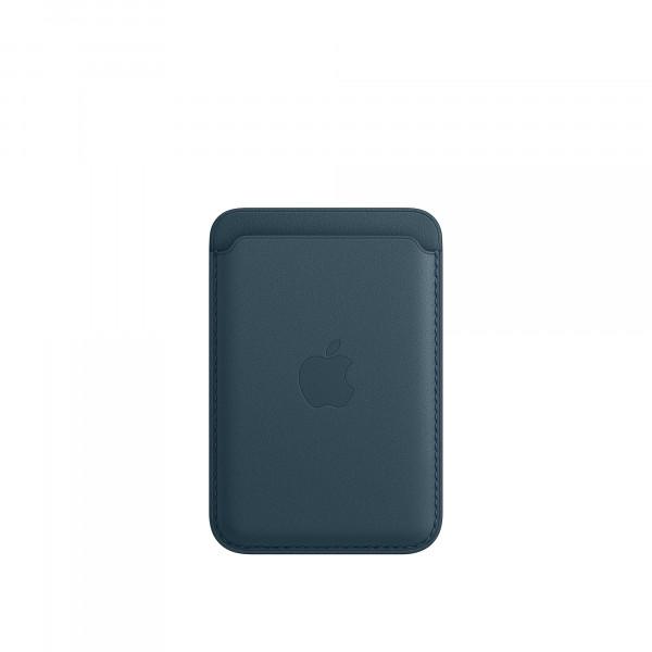 Leather Wallet Case Indigo Blue IPhone 12 (визитница)