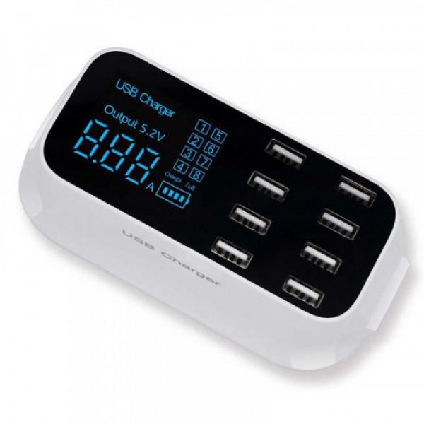 Зарядное устройство с LCD RoHs YS-CDA19 (40W / 8-USBпорт)