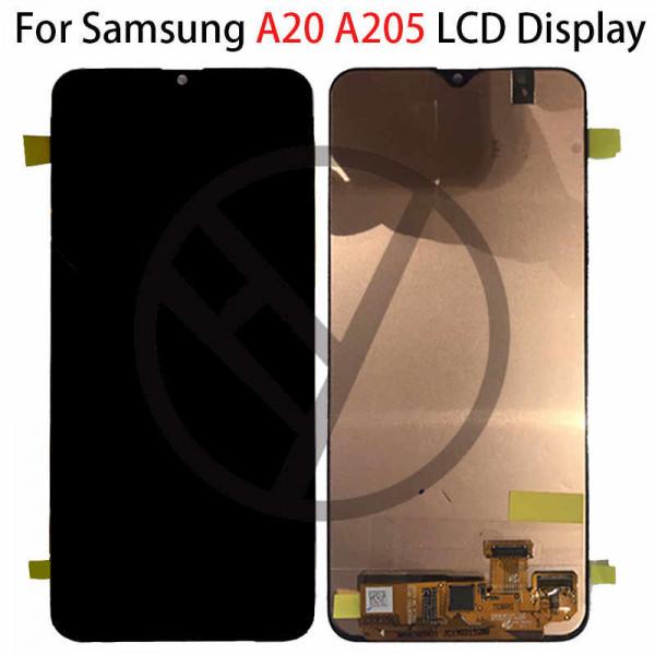 Дисплей Samsung A205 (A20) в сборе с тачскрином Черный - Оригинал
