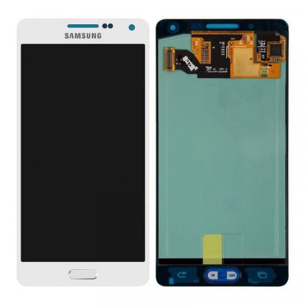 Дисплей Samsung A500F (A5) в сборе с тачскрином Белый - (OLED)