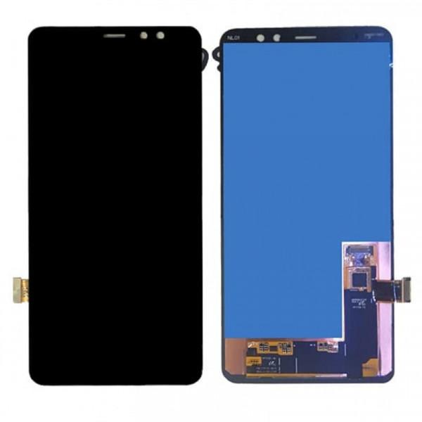 Дисплей Samsung A730F (A8+ 2018) в сборе с тачскрином Черный - Оригинал