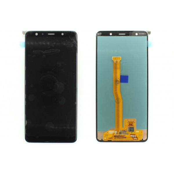 Дисплей Samsung A750F (A7 2018) в сборе с тачскрином Черный - Оригинал