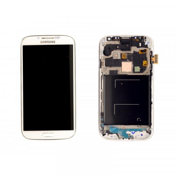 Дисплей Samsung i9500/i9505 в сборе с тачскрином Белый - (TFT) в рамке