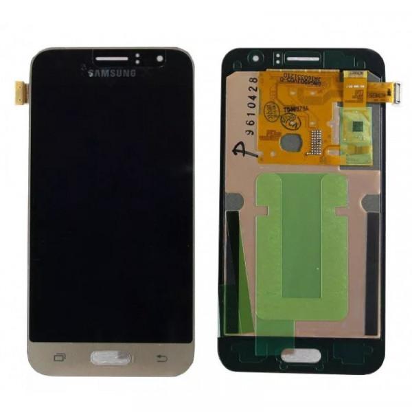 Дисплей Samsung J120F (J1 2016) в сборе с тачскрином Золото - (TFT) с рег.под.