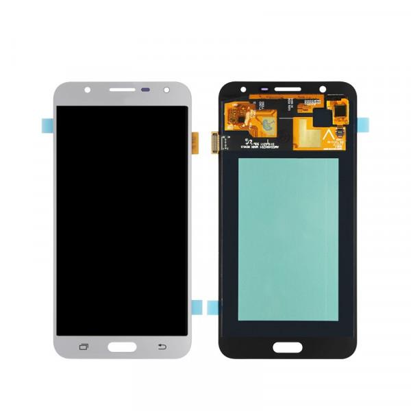 Дисплей Samsung J701F (J7 Neo) в сборе с тачскрином Серебро - (OLED)