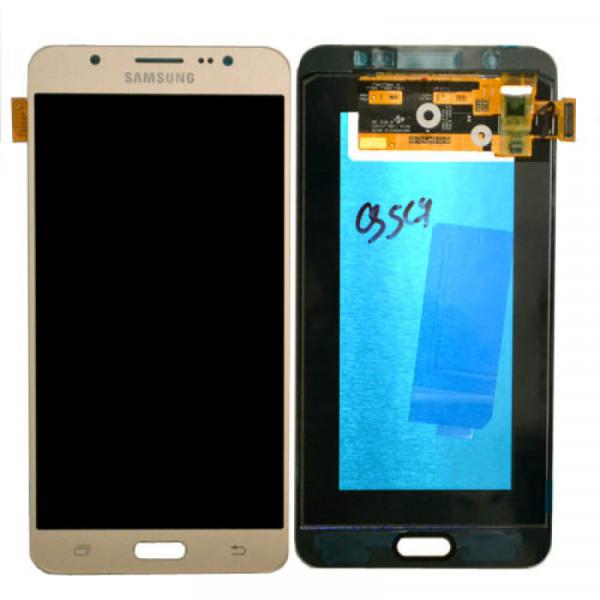 Дисплей Samsung J710F (J7 2016) в сборе с тачскрином Золото - (OLED)