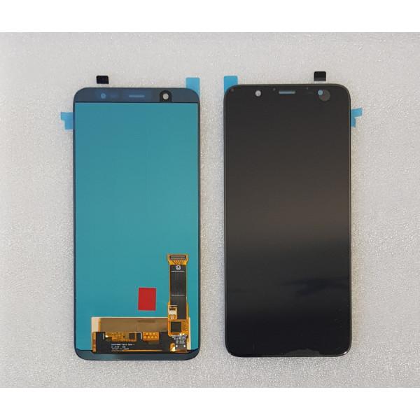 Дисплей Samsung J810F (J8) в сборе с тачскрином Черный - TFT с рег